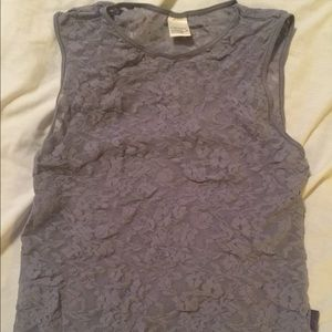 DKNY Underwear Sheer Top Size Small in Grey